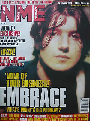 Nme 15/8/98 - Embrace - Fun Lovin' Criminals - Pj Harvey