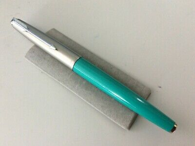 Parker 61 Capillary Filler Blue/Green Barrel With Anodised Cap And 14Ct Fine Nib