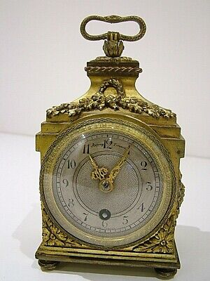 Stunning Asprey London Gilt Bronze Ormolu Mantle Clock Antique (989)