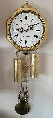 Jewellers Wall Clock Comtoise Style Dutch Made, Villian A.St Remy Harpslinger