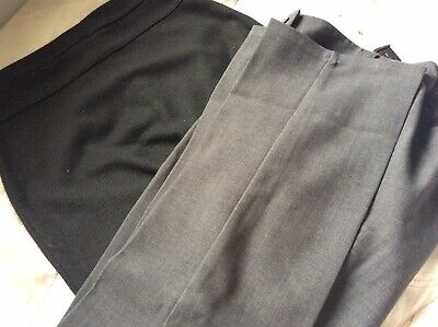 GIRLS GREY SCHOOL TROUSERS + BLACK SKIRT * NEXT * AGE 9 And 10 * PREOWNED