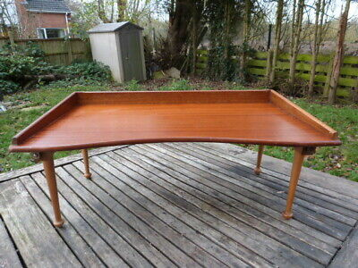 """LOVELY VINTAGE 1930/50s """"THE SUPERIOR"""" TEAK FOLD UP LAP BED TRAY."""