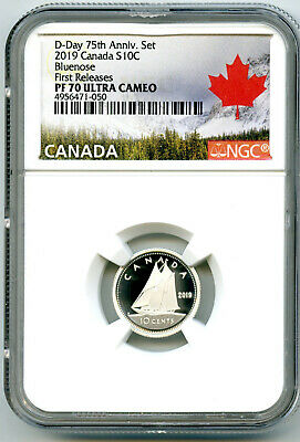2019 Canada 10 Cent Silver Proof Ngc Pf70 Ucam Bluenose Dime First Releases