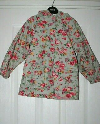 Girls Cath Kidston Hooded Coat Floral Age 5-6 Years