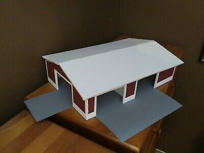 10 dcp Farm custom Machine Shed 1//64 window stickers with red shutters