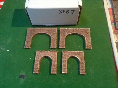 Twin Pack N Scale Tunnels (2 Twin Track And 2x Single Track) Rough Stone (XEB7)