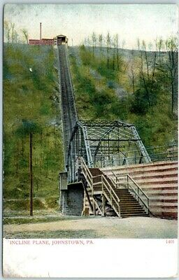 INCLINED PLANE JOHNSTOWN PA LITHOGRAPH UNPOSTED POSTCARDS 1939-PRESENT