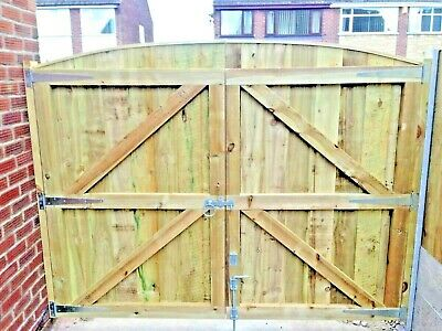 Wooden Garden Luxury Heavy Duty Fully Framed Driveway Gates Pressure Treated