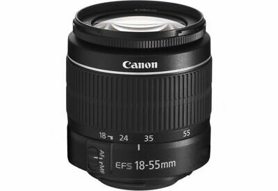 Canon EF-S 18-55mm f/3.5-5.6 III Standard Zoom Lens in white box