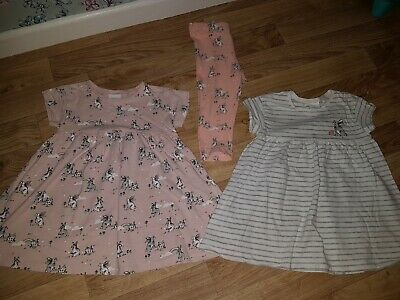 Next Baby Girls grey peach bunny rabbit tunic leggings top Outfits 9-12 Months