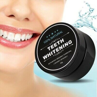 100% Organic Coconut Activated Charcoal Natural Teeth Whitening