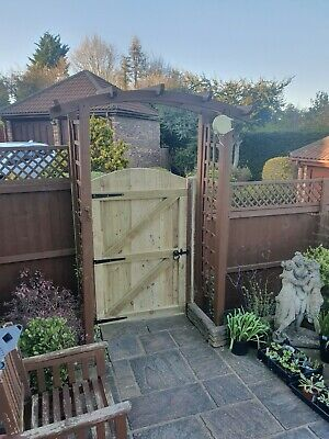Wooden Garden Luxury front GATE Heavy Duty Fully Framed Pressure Treated ARCHED