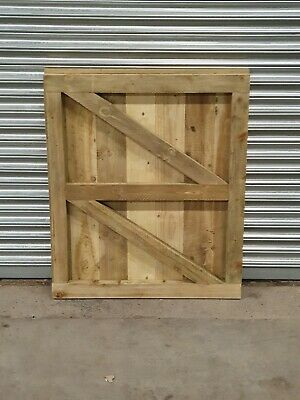 Wooden Garden Luxury front GATE Heavy Duty Fully Framed Pressure Treated FLATTOP