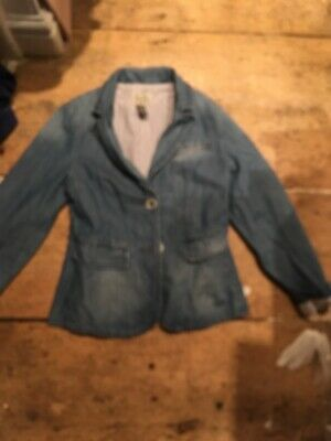 Zara Girls Denim Blazer Jacket 7-8yrs