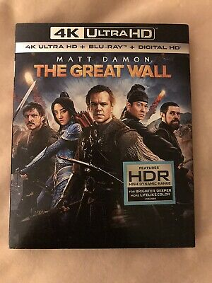 The Great Wall 4K (Ultra HD / Blu-ray / Digital) Damon / Pascal + Slipcover