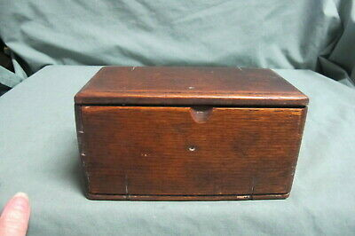 Antique Singer Sewing Machine Wooden Folding Puzzle Accessory Box Vtg 1889