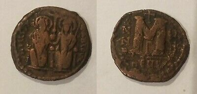 Ancient Byzantine 565-578 Justin II Sophia Large Follis #4