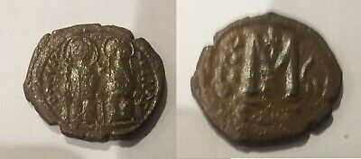 Ancient Byzantine 565-578 Justin II Sophia Large Follis #5