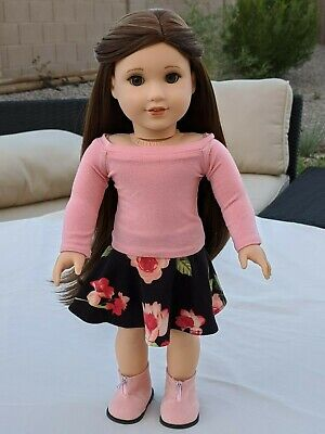 Custom American Girl Blaire Doll OOAK (brown hair, green eyes)