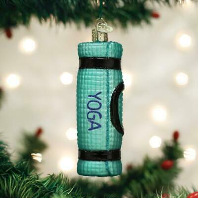 YOGA STONES MULTI-COLORED STACK OLD WORLD CHRISTMAS GLASS ORNAMENT NWT 36209