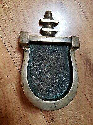 Vintage Brass Horseshoe Shaped Door Knocker