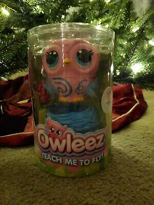 Owleez Flying Baby Owl Interactive Toy (Drone) with Lights & Sounds (Pink) - NEW