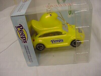 "Peeps Christmas Ornament Yellow Chick New Glass Easter Car Mobile Large  4""X3"""