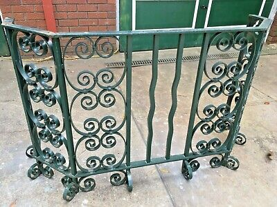 Vintage Wrought Iron Bar/Balistrade Garden Bar-Rustic- From Qvb Syd -L@@K-Nsw