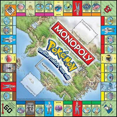 Pokemon Go MONOPOLY Perfect Party Family Card Board Game Toys Xmas Gift Funny UK