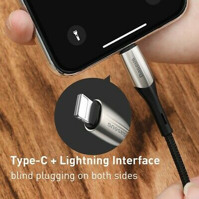 Genuine BASEUS USB TYPE-C 18W 1m Fast Charge Charging Data Sync Cable Cord