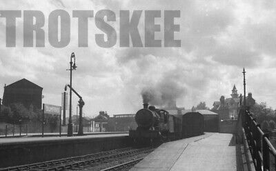 35mm Negative BR British Railways Steam Loco in Station View Dumfries 1957