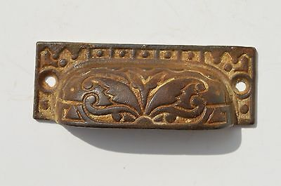Ornate Antique Victorian Cast Iron Eastlake Furniture File Cabinet Drawer Pull