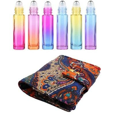 10X*10ML Essential Oil Roller Bottle Lipstick Perfume Bag Case Travel Storage