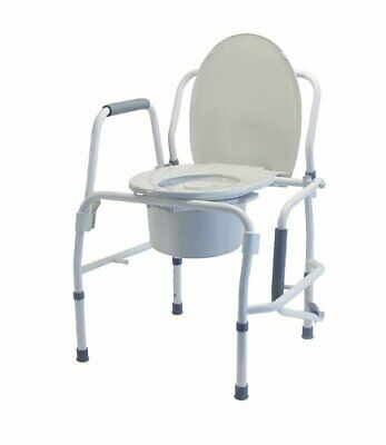 Commode Drop Arm Silver Coll Lumex