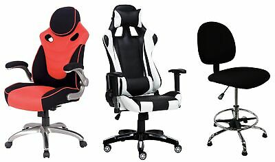 Mega Pro Gaming Racing Chair Executive Home Office Swivel Recliner Leather