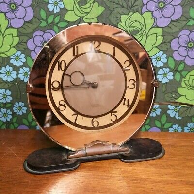 Vintage Bakelite & Glass SMITHS Sectric Electric Mantle Clock - untested