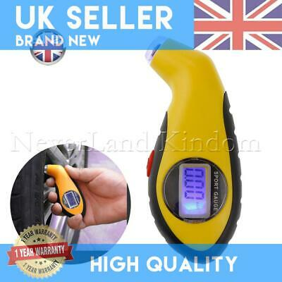 Digital Tire Air Pressure Guage Tool Auto Tester Car Bike Truck LCD Tyre Meter