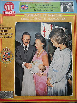 Point of View No 1419 Infante Margarita Christening Maria Duchess Kent 1975