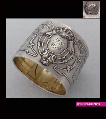 ANTIQUE 1880s FRENCH STERLING/SOLID SILVER MINERVA NAPKIN RING Louis XVI style