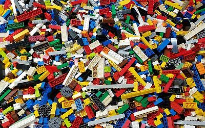 LEGO Bulk Lot of 2 Pounds ONLY BUILDING BRICKS Clean Genuine 2 Lbs Grab Bag