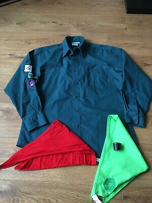 Scouts Shirt Medium With Scarfs And Doggle