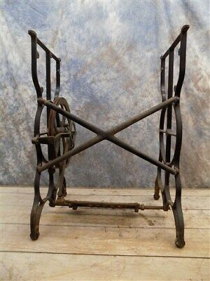 Treadle Sewing Machine Cast Iron Base Industrial Age Table Singer Steampunk no