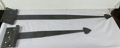 Antique Door Hinges Iron Blacksmith Hand Made Gate Barn Strap vintage
