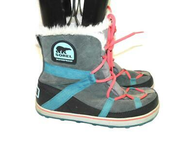 Details about Womens Sorel Glacy Explorer Shortie Waterproof Snow Hiking Winter Boots US 5 11