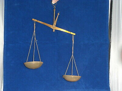 Antique Hand Scale~ Rare~ Plastic Cups~ Works Great~ Germany ~ Pharmaceutical