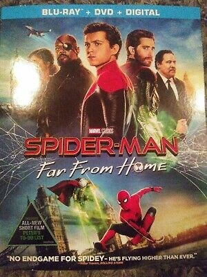 Marvel🕷Spider-Man Far From Home: W/Slipcover (Blu-Ray+ Dvd+Digital) Brand New!!