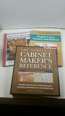Three Cabinet Making Woodworking Books
