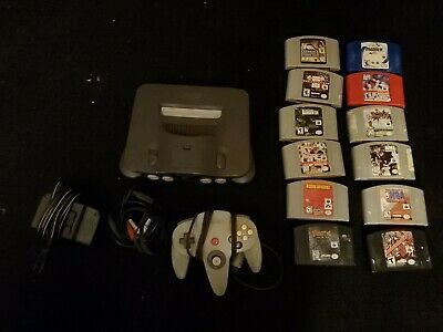 Nintendo 64 N64 Bundle With Controller, 12 Games & Cables