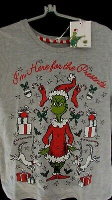 THE GRINCH CHRISTMAS Womens Girls  T-shirt PJ Top - Medium  BNWT