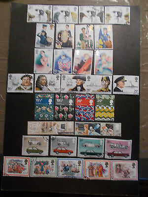 GB 1982 Commemorative Stamps, Year Set~Very Fine Used, ex fdc~UK Seller